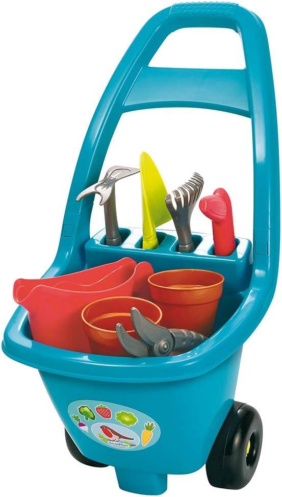 Ecoiffier-4479 - Carro de Herramientas de jardín para niños a Partir de 18 Meses, Fabricado en Francia