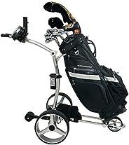 NovaCaddy X9RD Remote Control Electric Golf Trolley, Silver, 12V20A Lithium Battery