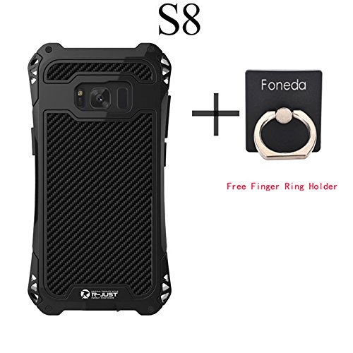 R-JUST Amira Powerful Life Shockproof Dirt Proof Case For Samsung Galaxy S8 G9500 Case Cover Phone Cases Shell Skin Bag Without Gorilla Glass For Galaxy S8 5.8 Inch (Black)