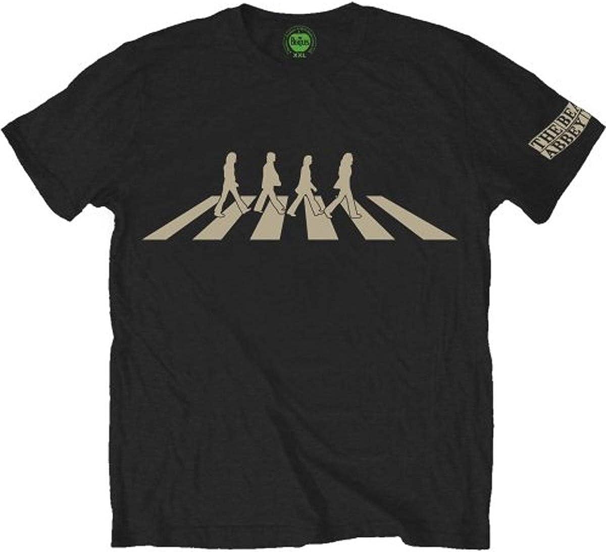 Rocks-off Herren The Beatles Abbey Road Silhouette T-Shirt