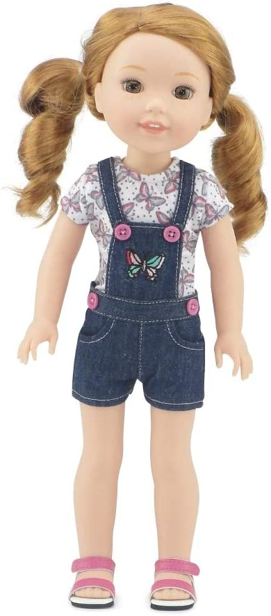 """Pants /& Top for 14/"""" Wellie Wishers Doll Clothes by TKCT green sweater knit fleec"""