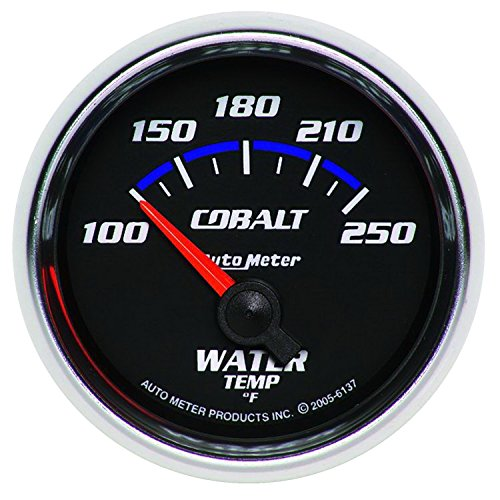 (Autometer Cobalt 52.4mm 100-250 deg. F Short Sweep Electronic Water Temperature Gauge (am6137) )
