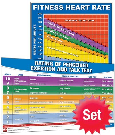 Productive Fitness HR-Set Heart Rate Poster Set - Laminated only