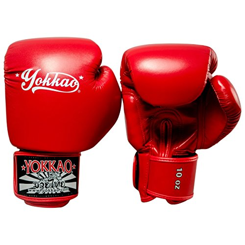 Yokkao Vertigo Boxing Gloves Red Microfibre Muay Thai Kickboxing K1 Training