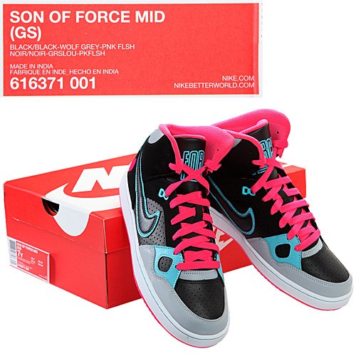 Nike - NIKE SON OF FORCE MID (GS) 616371 001 - W13048