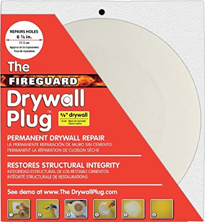 7 Inches Duck Brand The Drywall Plug 285091 White