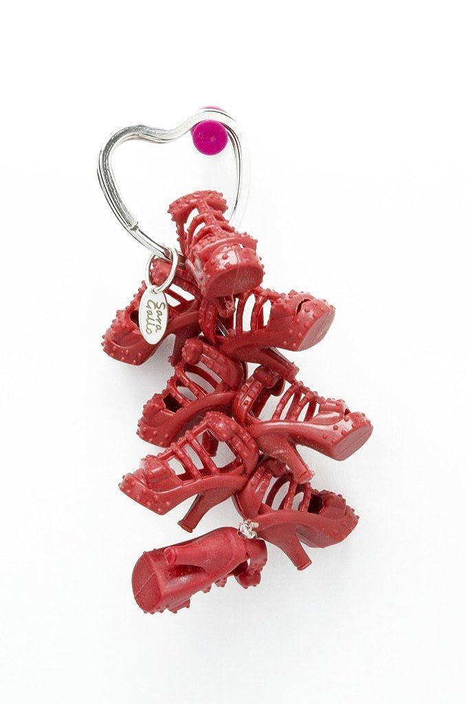Rojo muñeca de gladiador sandalias zapatos llavero: Amazon ...