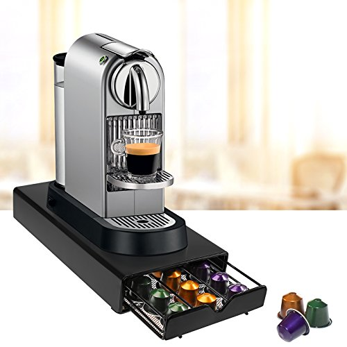 amos 30 nespresso coffee capsule pod drawer holder storage tray organiser dispenser machine. Black Bedroom Furniture Sets. Home Design Ideas