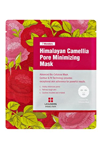 Himalayan Beauty Collection ([Leaders Insolution] 7 Wonders Himalayan Camellia Pore Minimizing Coconut Gel Bio-Cellulose Mask 10Pk (with red root extract, sugar maple extract, camellia seed oil, licorice root extract))