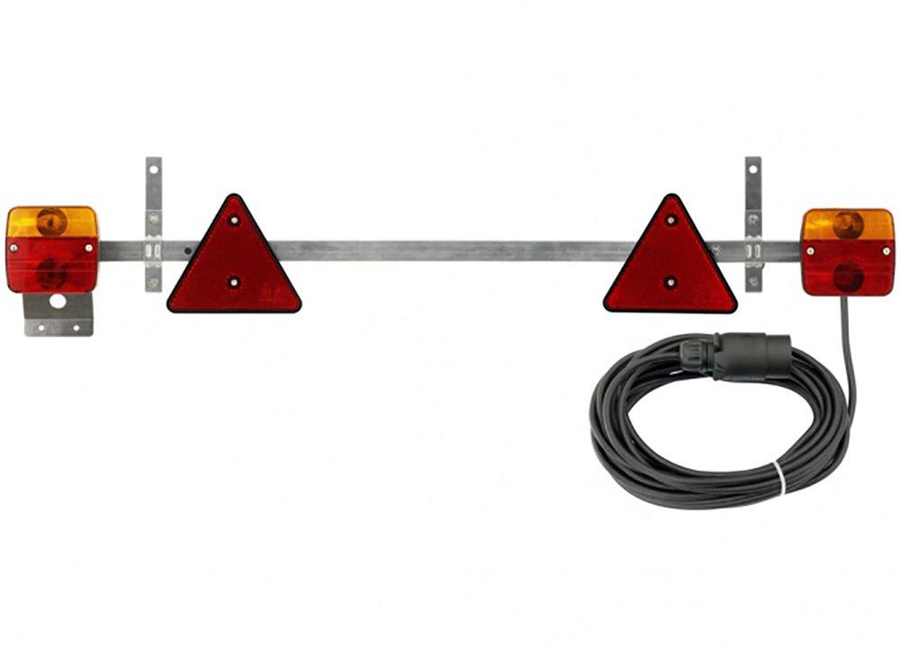 adluminis luce posteriore Set con base magnetica e Catadiottro, cavo per rimorchio, 7 m, 7 poli, dopo gü ltigen regolamenti, ECE per approvato stradale. 7m 7poli dopo gültigen regolamenti