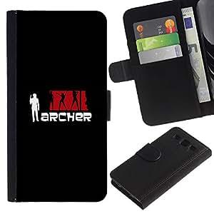 LECELL--Cuero de la tarjeta la carpeta del tirón Smartphone Slots Protección Holder For Samsung Galaxy S3 III I9300 -- Archeer --
