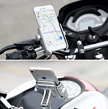 schwarzer Lenker Motorrad Handyhalterung Aluminium Universal Fahrrad Handy Halterung f/ür 3,5-6,5 Zoll Smartphone Navigator GPS mit 360/° Drehbar Montage am Lenker