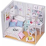 Wooden Dollhouse Miniature DIY Kit Dolls House With LED Furnitiure and Cover Artwork Gift Christmas Gift