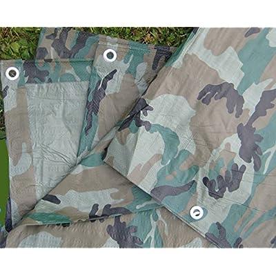 Camouflage/Green Tarp, 12'x20' - Camo Tarp - .com