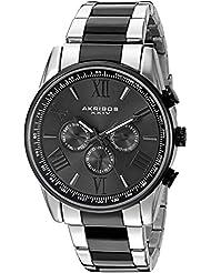 Akribos XXIV Mens AK736TTB Ultimate Swiss Two-Tone Stainless Steel Watch