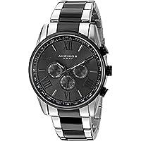 Akribos XXIV Men's AK736TTB Ultimate Swiss Two-Tone Stainless Steel Watch