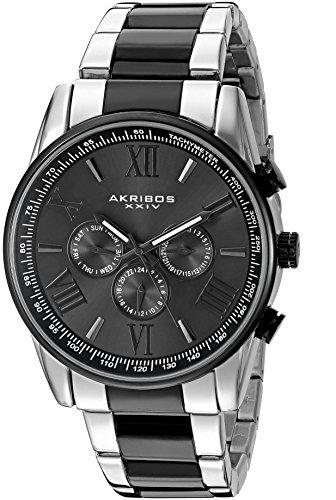 Akribos XXIV Men's AK736 Ultimate Swiss Quartz Multi-Function Stainless Steel Bracelet Watch ()