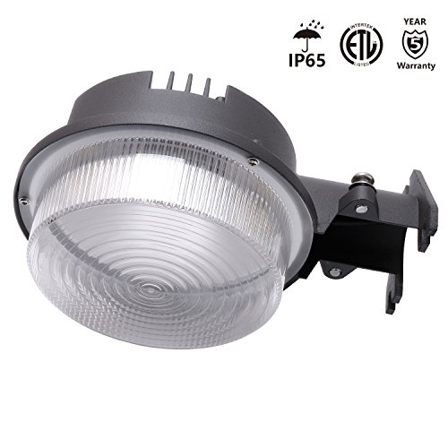 Dusk to Dawn LED Outdoor Barn Light, MINGER LED Floodlight with Photocell, Perfect for Area Yard Path Garage Lighting (30W, 3500LM ,5000K, IP65, ETL-listed, 5-year Warranty)