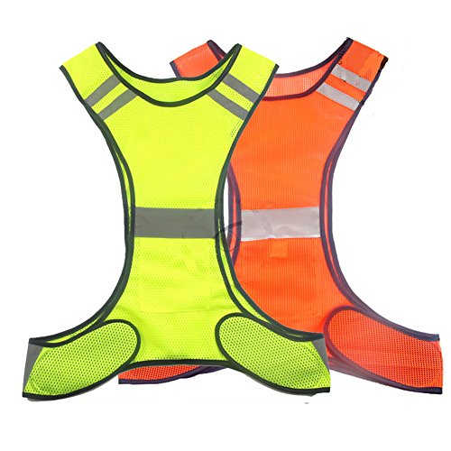 RUIAN Reflective Safety Vest Running Cycling Dog Walking Safety Sports Gear High Visibility for Adults Children with Pocket