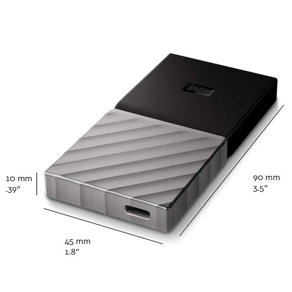 WD 2TB My Passport SSD Portable Storage - USB 3.1 - Black-Gray - WDBKVX0020PSL-WESN by Western Digital (Image #3)