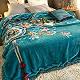 YUMUO Flannel Blanket, Ultra-Soft Plush Full Size All Season Light Weight Blanket,Wrinkle-Resistant Blanket for Home Bedroom -l (59x79inch 5lb)