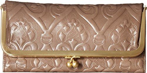 Hobo Womens Rachel Vintage Wallet Leather Clutch Purse (Embossed Ash)