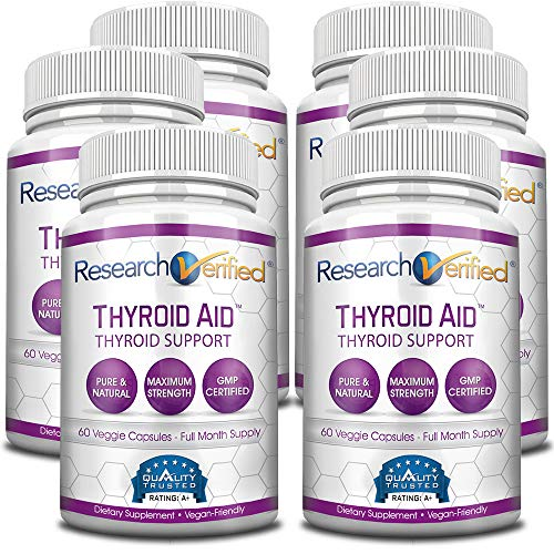 Research Verified Thyroid Aid - With Iodine, Vitamin B12, Selenium, Coleus Forskholii, Kelp, Ashwaghnada & More - 100% Pure, No Additives or Fillers - 100% Money Back Guarantee - 3 Months Supply by Research Verified (Image #3)