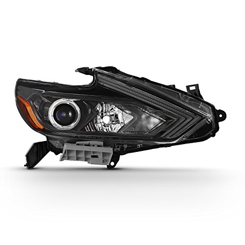 (Fits 2016 2017 2018 Altima Sedan Projector Black Headlight Passenger Right Side Headlamp Replacement)