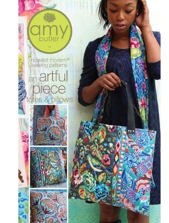 Amy Butler Sewing Pattern An Artful Piece Totes & Pillows
