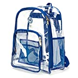 K-Cliffs Heavy Duty Clear Backpack See Through Student Transparent School Bookbag Royal By Praise Start