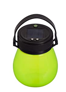 Evergreen Garden Firefly Frosted Green Bell-Shaped Indestructible Silicone Solar Powered LED Emergency Power Light with Water-Tight Twist Top/Brand- Evergreen Garden