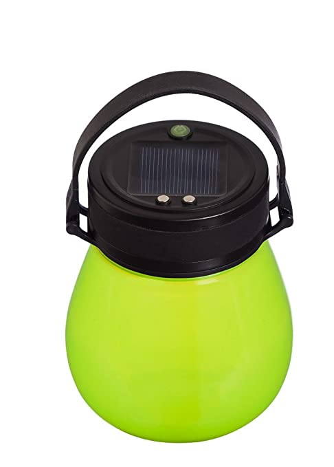 Evergreen Garden Firefly Frosted Green Bell-Shaped Indestructible Silicone  Solar Powered LED Emergency Power Light with Water-Tight Twist Top/Brand-