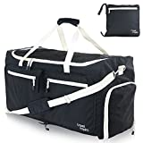 travel inspira 85L Foldable lightweight Water Resistant Luggage Bag Duffel for Sports Gym Camping