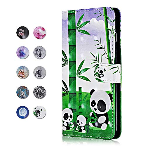 Price comparison product image Galaxy J5 2016 Case,  CAXPRO PU Leather Full Body Protective Cover Case with Credit Card Holders,  Wrist Strap,  Magnetic Closure for Samsung Galaxy J5 2016 - Panda