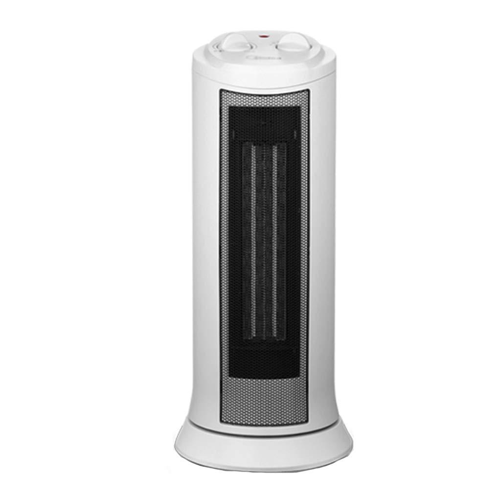 Acquisto riscaldatore Riscaldatore a Torre Riscaldatore Elettrico Ventilatore Caldo Ventilatore a Testa Mobile Risparmio energetico (Color : Bianca, Size : 18.6 * 18.6 * 44cm) Prezzi offerte