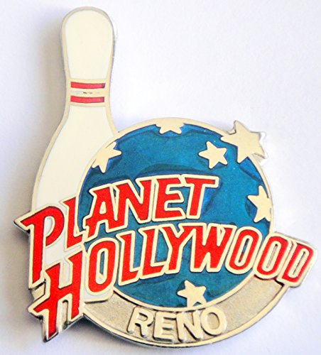 Reno Nevada Planet Hollywood Bowling w/ Blue Globe Logo Pin