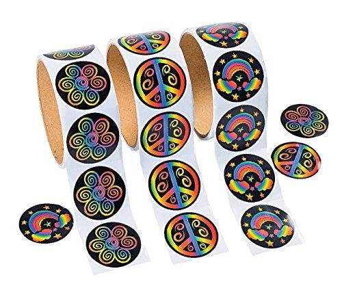 UPC 886102209400, 3 Rolls of Rainbow Stickers (300 Stickers)