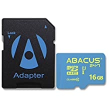 Abacus24-7 16GB micro SD Class 10 Memory Card [SD Adapter] for Samsung Galaxy A3, A5, Avant, Core II, Grand Neo, Grand Prime, Legend, Mega 2, Note 3 Neo, S Duos 3, S3 Neo, S5 mini, Star 2 Plus