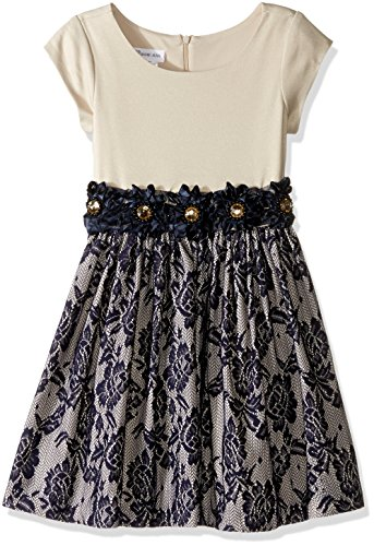 Bonnie Jean Big Little Girls' Lace Party Dress, Navy, 14 from Bonnie Jean
