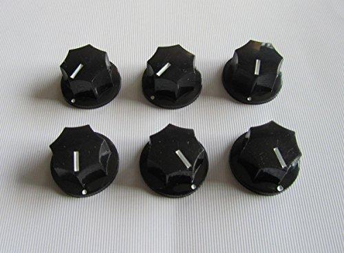 Mini Dome Knob (Small Jazz Bass Knobs Mini MXR Style Effect Pedal Knobs, 6pcs Black)