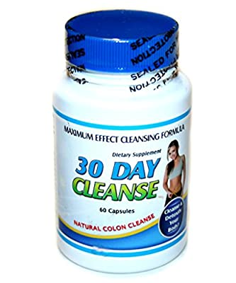 30 Day Cleanse - 60 Pills - Natural Colon Cleanser - Cleanse and Detoxify Your Body!