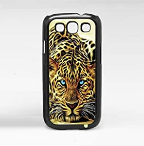 Painted Water Color Cheetah with Blue Eyes Hard Snap on Phone Case (Galaxy s3 III)