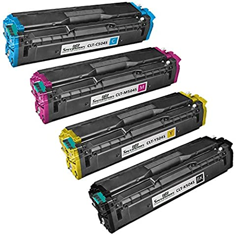 Speedy Inks - Compatible for Samsung 504S CLP-415 Set of 4 Laser Cartridges: CLT-K504S Black, CLT-C504S Cyan, CLT-M504S Magenta, & CLT-Y504S Yellow For use in CLP-415NW, CLX-4195FN, (Samsung Laser Printer C1810w)