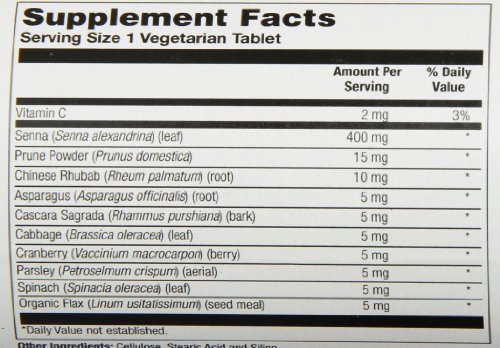 Natures Life Herbs and Prunes Veg Tablets, 250 Count