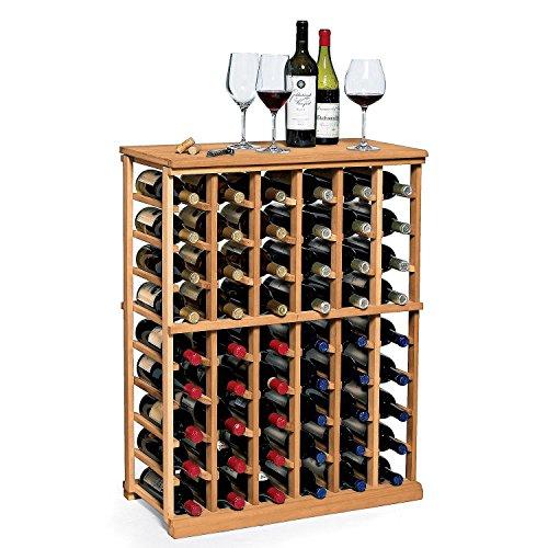 Bordeaux Half Bottle - N'FINITY Wine Rack Kit - 6 Column Half Height -Natural Finish - Solid Mahogany