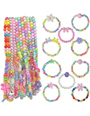 obmwang 20Pcs Princess Necklace Bracelet Set, Little Girls Costume Jewelry Play Jewelry for Women Kids Dress Up Pretend Play Party Favors