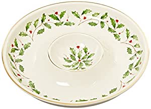 Lenox Holiday Chip and Dip,Ivory