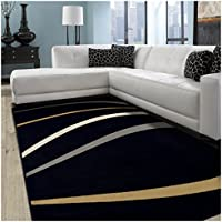 Superior Zara Collection Area Rug, 8mm Pile Height with Jute Backing,  Bold Contemporary Wave Design, Fashionable and Affordable Woven Rugs, 27 x 8 Runner