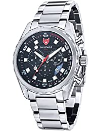 Mens SE-9062-11 Engineer Analog Display Swiss Quartz Silver Watch