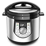 12-in-1 Pressure Cooker - Elechomes 1000 W 6 Qt Multi-use Programmable Electric Pressure Cooker, Slow Cooker, Rice Cooker, Yogurt Maker, Cake Maker, Egg Cooker, Saute Steamer, Warmer, and Sterilizer